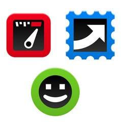 Performance Icon Set vector image