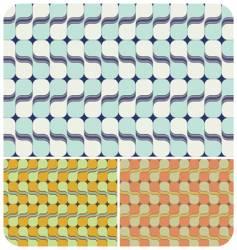 retro swirls vector image vector image