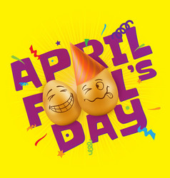 to april fools day vector image vector image
