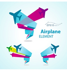 Airplane flight tickets air fly travel takeoff vector