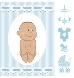 Cute African baby boy vector image vector image