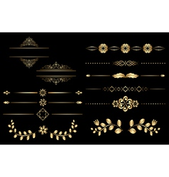 golden design elements with gradient vector image vector image