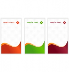 vertical business cards vector image vector image