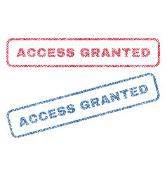 access granted textile stamps vector image vector image
