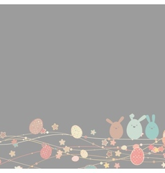 Easter card with copy space EPS 8 vector image