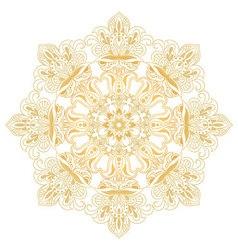 Ethnic decorative design element Mandala symbol vector image