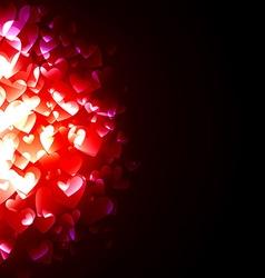 Glowing Hearts vector image