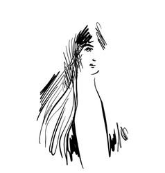 hand drawn cartoon face vector image vector image