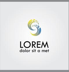 letter c pixel logo vector image
