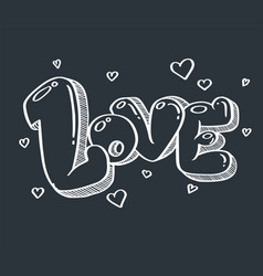 love doodle for valentine and wedding vector image vector image