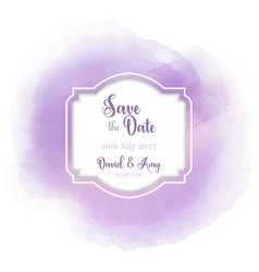 save the date watercolour design vector image