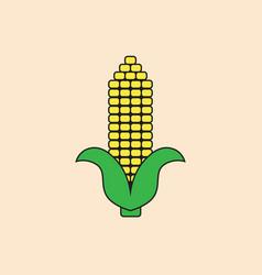 corn cob icon autumn harvest concept vector image