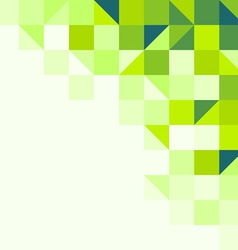 Green geometric background vector image