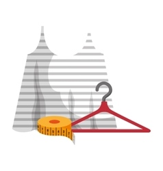 Lady shirt and hanger vector