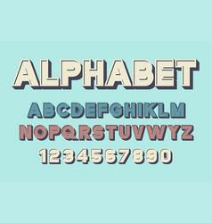 retro font and alphabet vector image