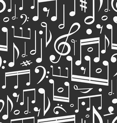 Seamless background of music notes vector image vector image