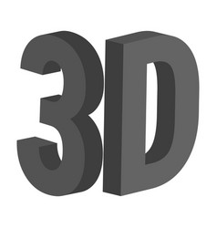 3d letters 3 d icon symbol 3d three vector image