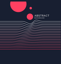 Abstract background with dynamic lines vector