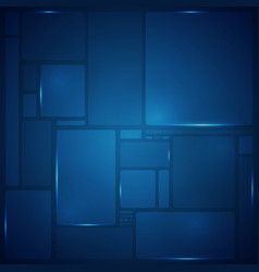 abstract of blue square pattern geometric vector image