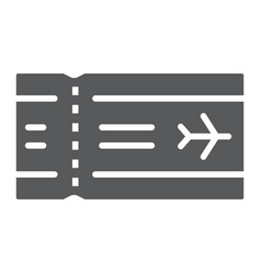 airport ticket glyph icon travel and tourism vector image