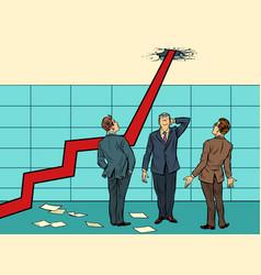 Arrow growth chart vector