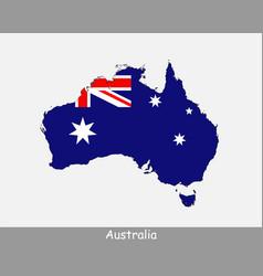 australia map flag vector image