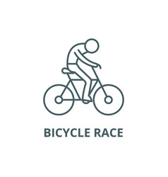 bicycle race line icon bicycle race vector image