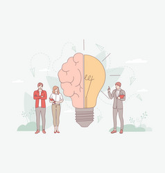 brainstorming in imagination concept vector image