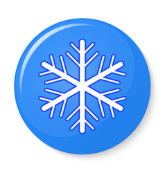 Button with snowflake emblem vector