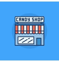 Candy shop flat icon vector