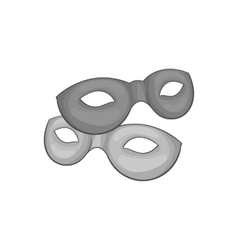 Carnival mask icon black monochrome style vector