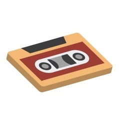 Cassettes isometric 3d icon vector image vector image
