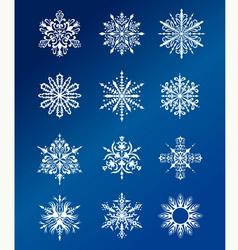 Christmas snowflakes design vector