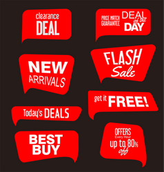 collection different shapes stickers price tag vector image
