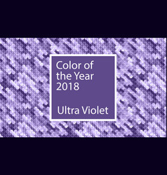 color of the year 2018 ultra violet background vector image