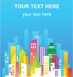 colorful city real estate flyer vector image