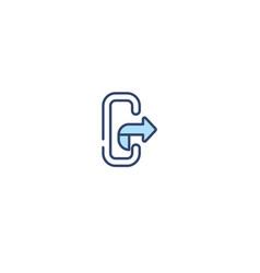 Concept 2 colored icon simple line element vector