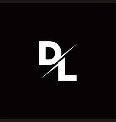 Dl logo letter monogram slash with modern logo vector