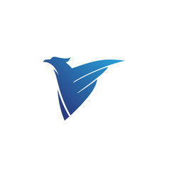 Falcon wing icon template vector
