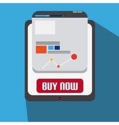 Flat Design With Tablet Web Design vector image