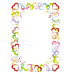 Frame with heart for valentines day vector