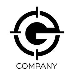 G letter target logo vector