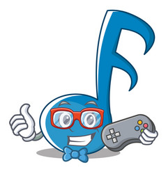 Gamer music note character cartoon vector