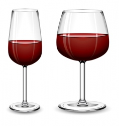 Glasses of wine vector