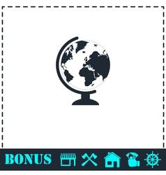 Globe icon flat vector image