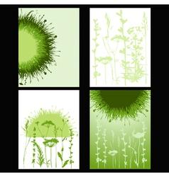 grass card vector image