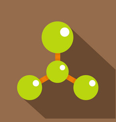 Green molecule structure dna icon flat style vector