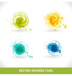Grunge Curl vector image