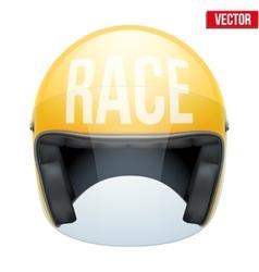 High quality racing motorcycle helmet vector image