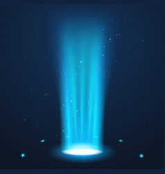 hologram portal magic podium effect circle light vector image
